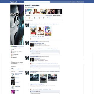 Comet Cine Center auf Facebook