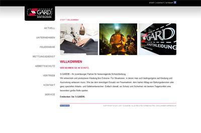 S-GARD Screenshot Homepage