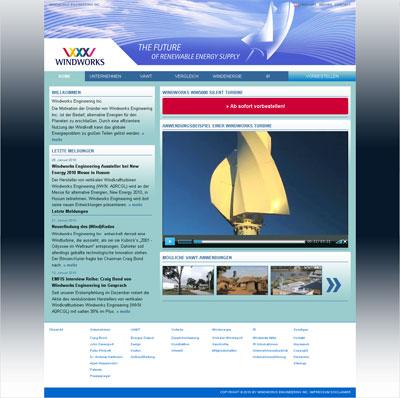 Grafik: Screenshot Windworks Portal