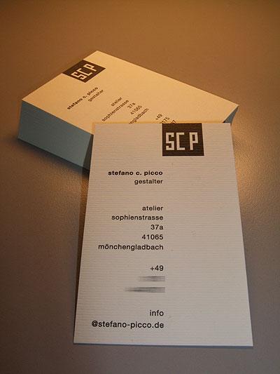 Produktion Scp Visitenkarten Spicone Multimedia Stefano