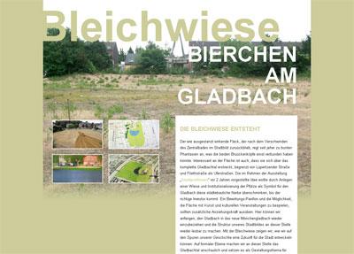 Grafik: Homepage Bleichwiese