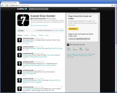 Comet Cine Center auf Twitter
