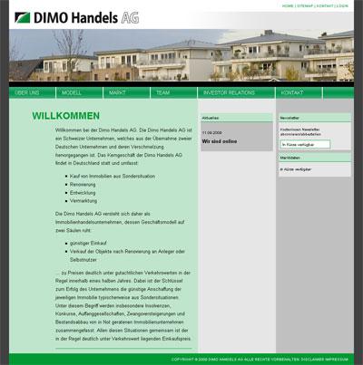 Grafik: Dimo Homepage