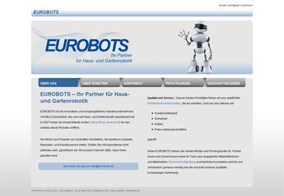 Eurobots Screenshot Homepage