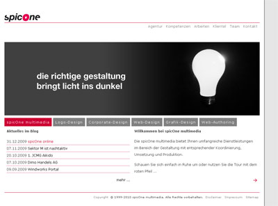 Grafik: Homepage spicOne