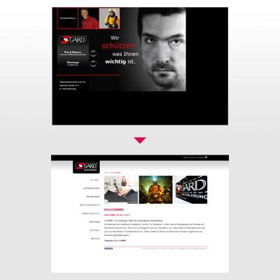 S-GARD Homepage Vergleich Willkommen