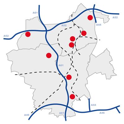 WFMG App Bezirke